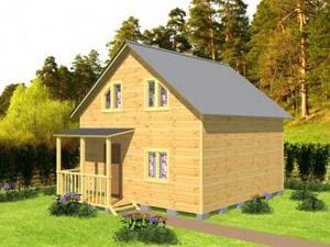 Двухэтажный дачный дом №10