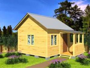 Одноэтажный дачный дом 4х4