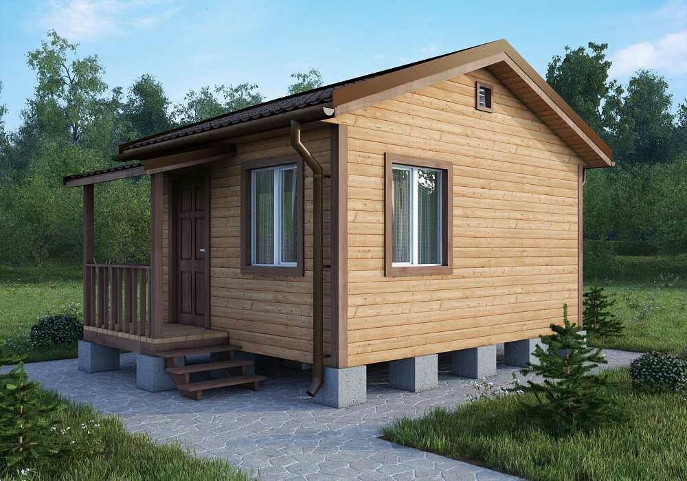 Садовый дом 4х4 с крыльцом
