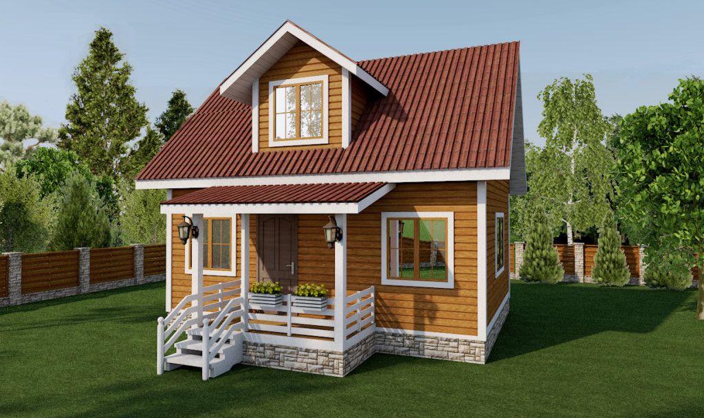 Дом для круглогодичного проживания 6х8