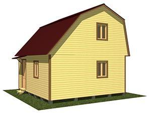 Двухэтажный дачный дом 6х5,5 с верандой