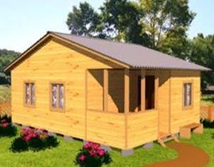 Садовый дом 6х8 с террасой