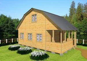 Двухэтажный дачный дом 5х8 с террасой