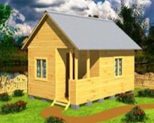Садовый дом 6х4 с террасой