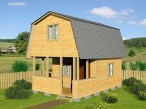Двухэтажный дачный дом 6х4 с террасой
