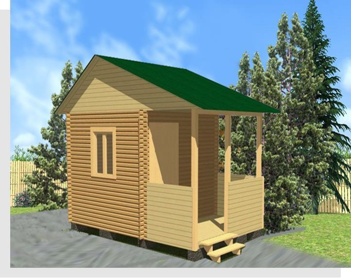 Садовый дом 3х3 с террасой