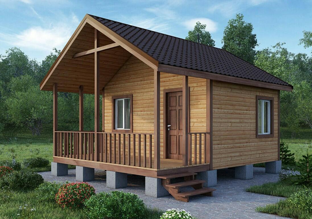 Садовый дом 4х5,5 с террасой