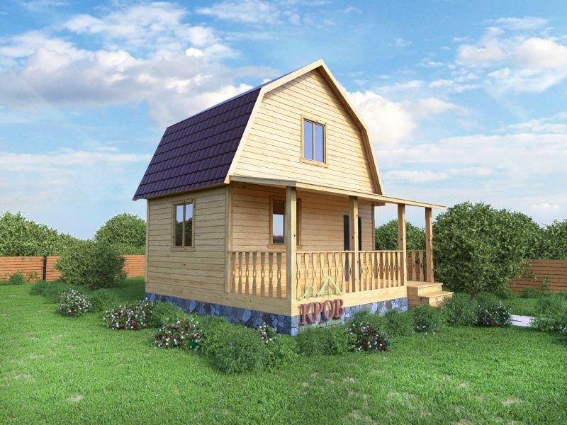 Двухэтажный дачный дом с террасой