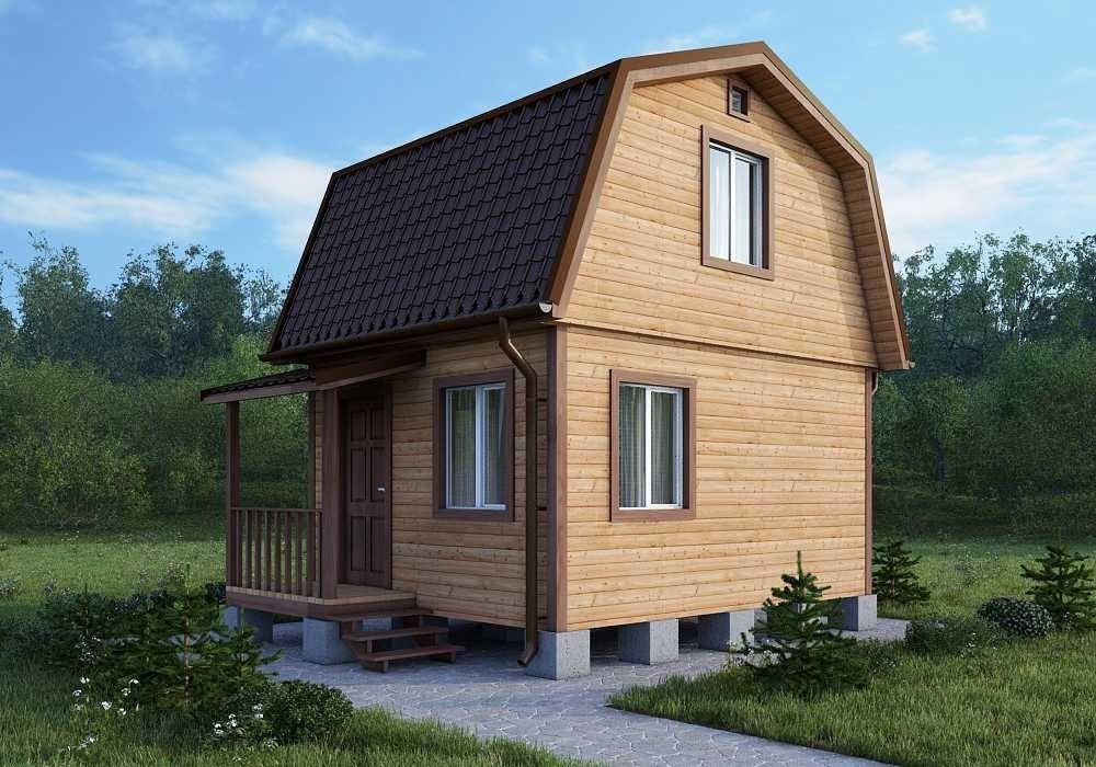Двухэтажный дачный дом 4х4