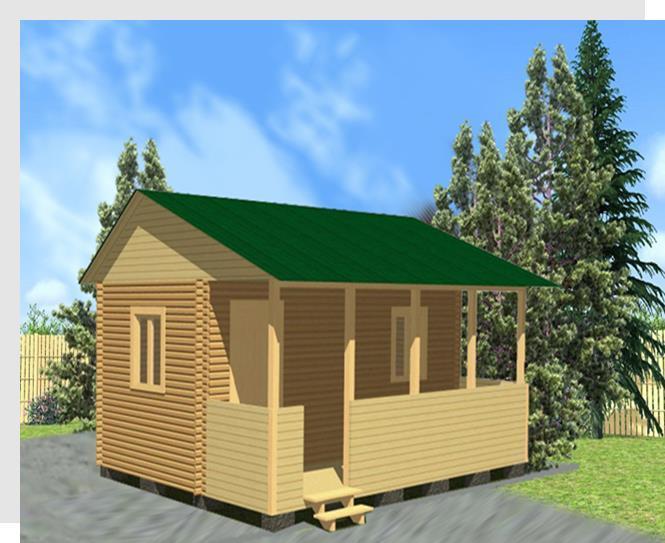 Садовый дом 3х6 с террасой