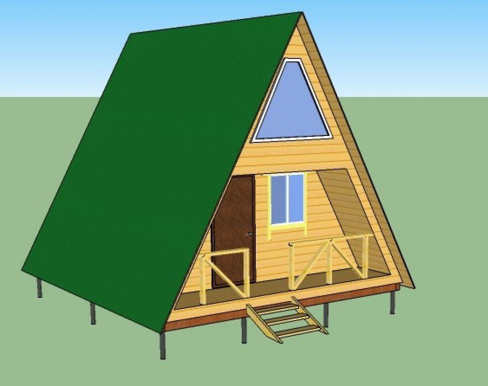 Садовый дом-шалаш